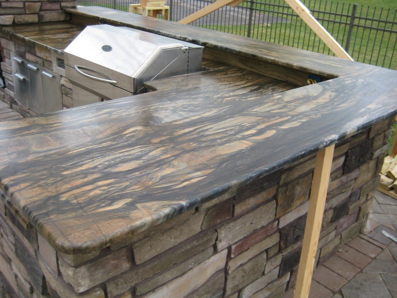 outdoor kitchen best countertop material Omaha